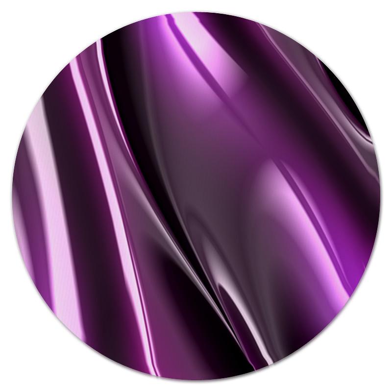 Коврик для мышки (круглый) Printio Фиолетовые линии коврик для мышки printio радужные линии