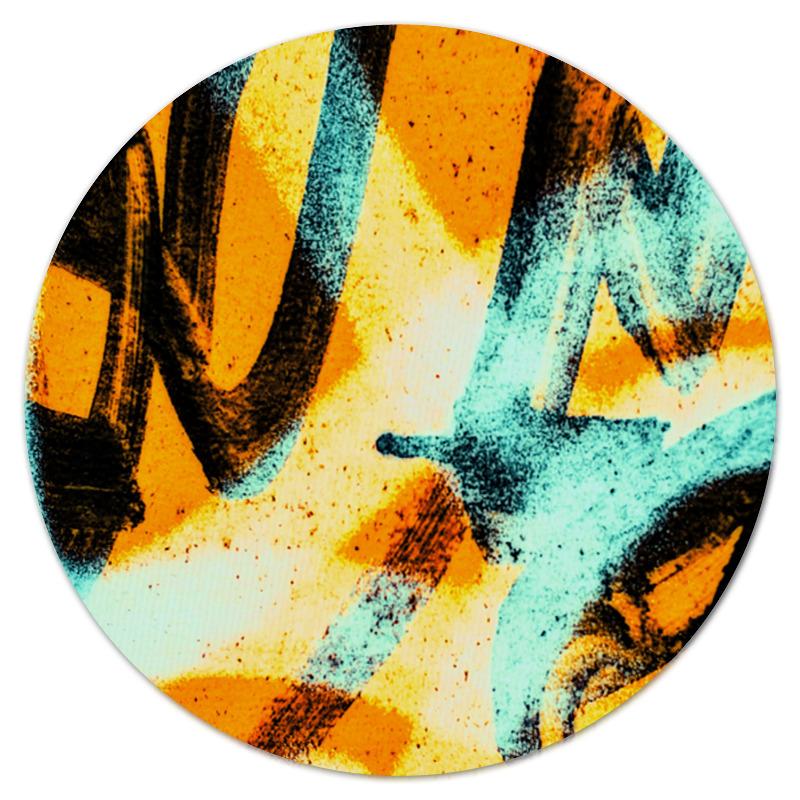 Коврик для мышки (круглый) Printio Граффити красками цена