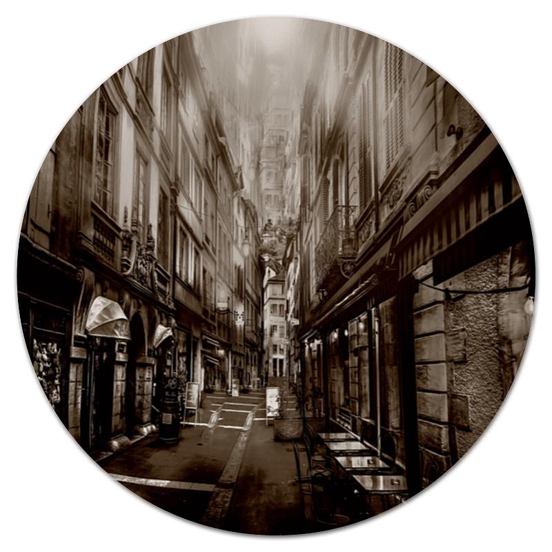 Коврик для мышки (круглый) Printio Улица города