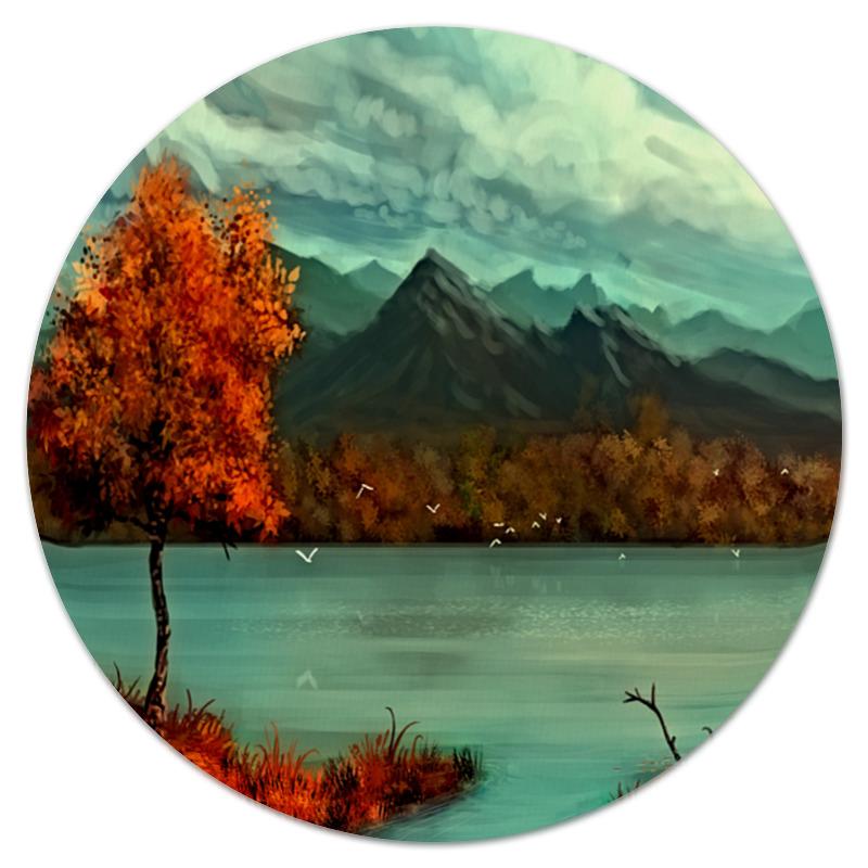 Коврик для мышки (круглый) Printio Осень в горах коврик для мышки круглый printio волк в горах