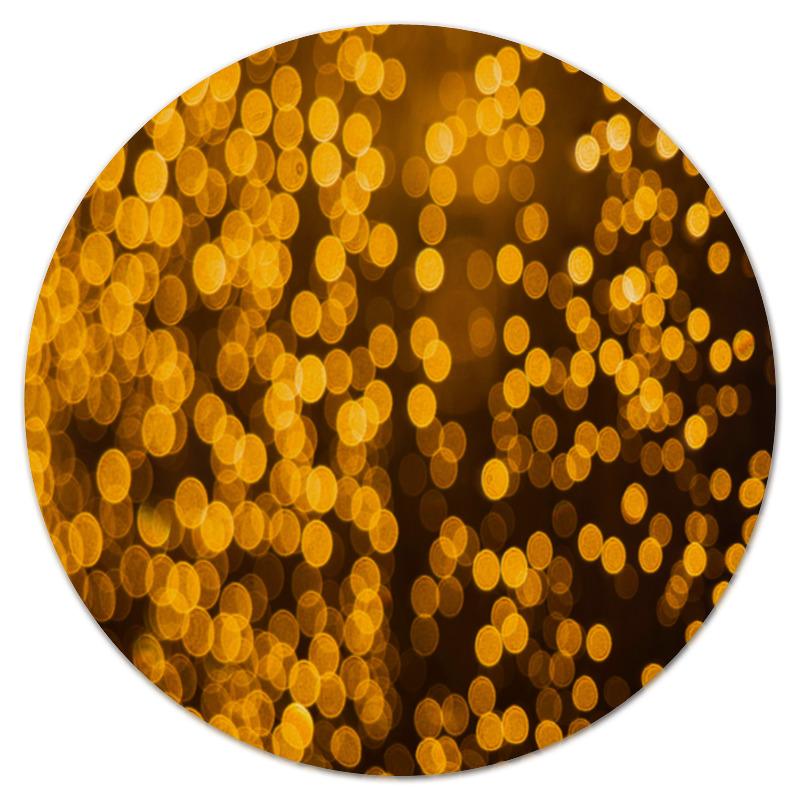 Коврик для мышки (круглый) Printio Золотой