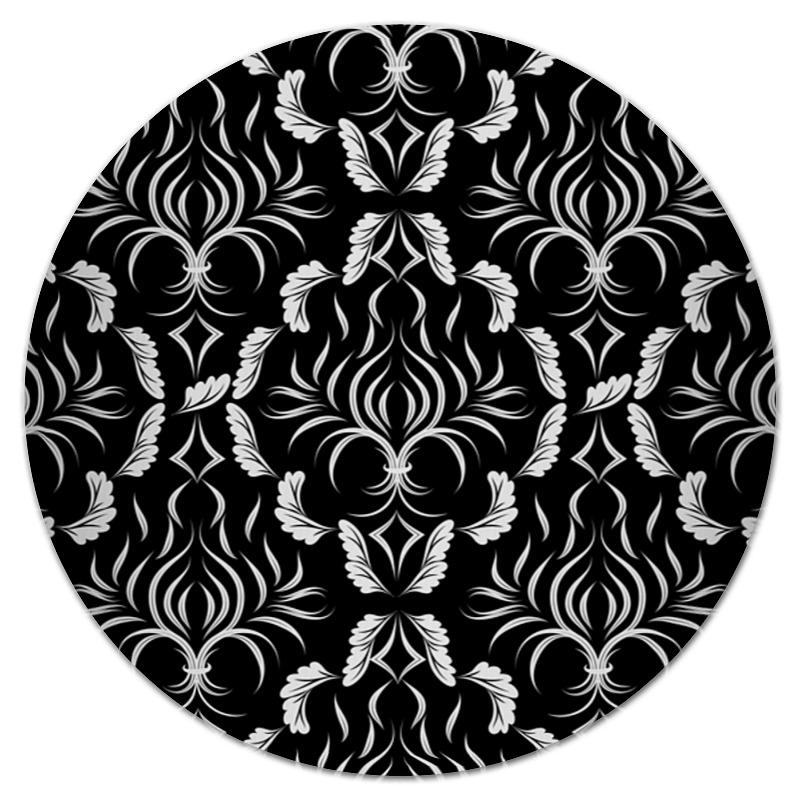 Коврик для мышки (круглый) Printio Расписные листья коврик для мышки круглый printio кленовые листья