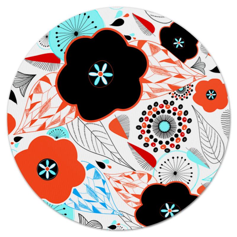 Коврик для мышки (круглый) Printio Цветочки