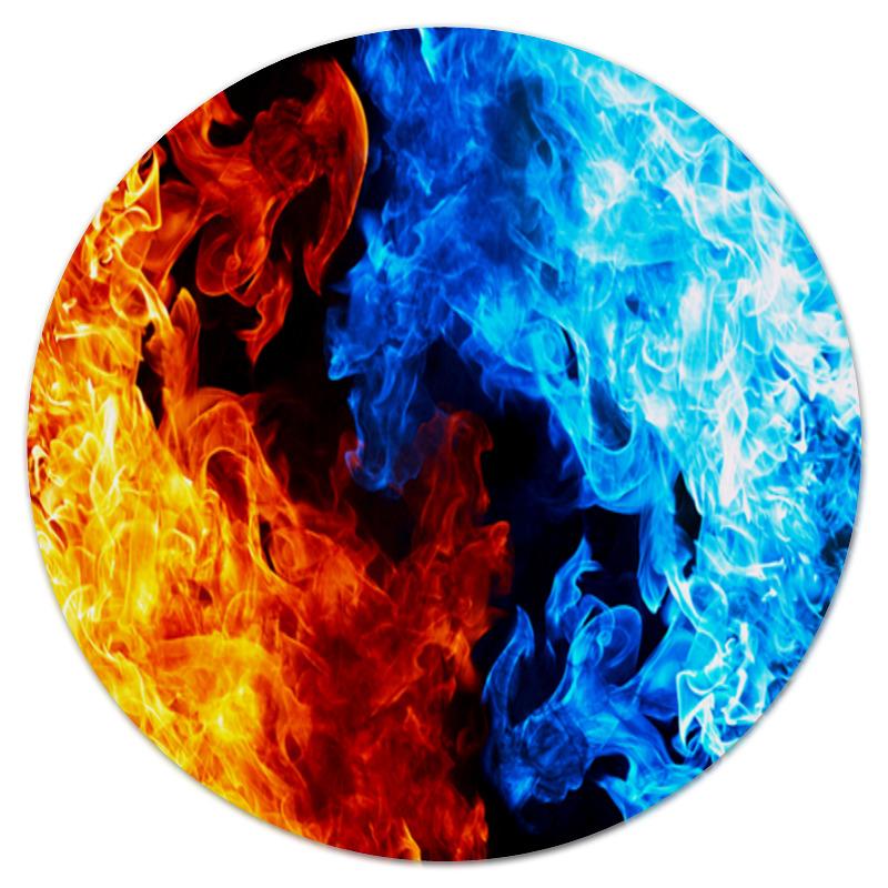 Коврик для мышки (круглый) Printio Красный и синий огонь bioflon красный 8006517 i
