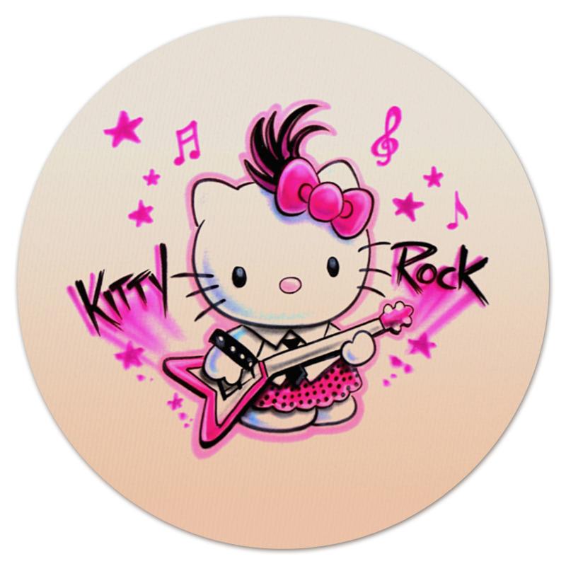 Коврик для мышки (круглый) Printio Kitty rock коврик для мышки printio kitty в горошек