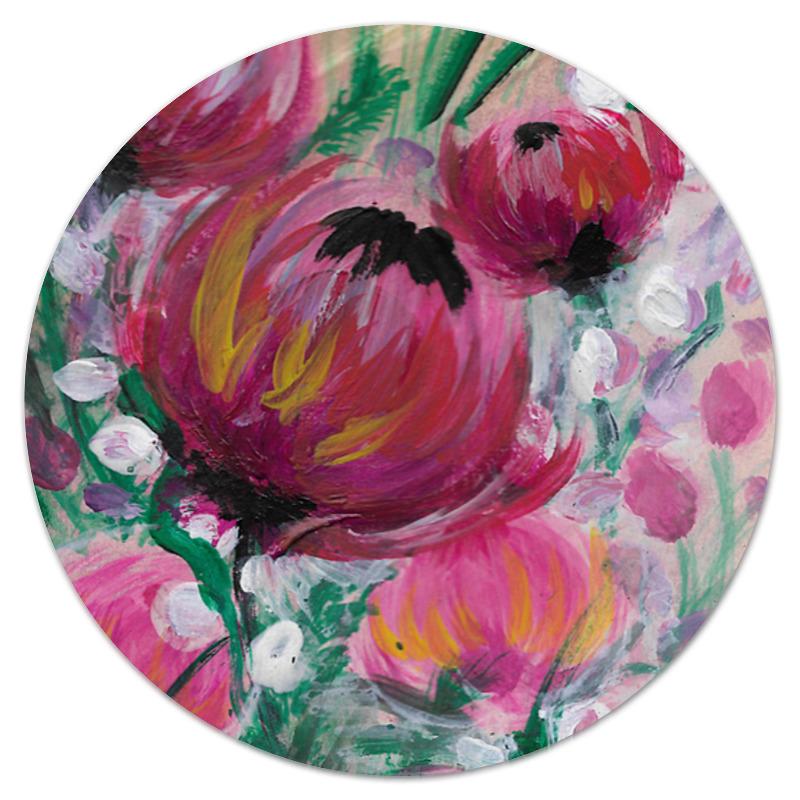 Коврик для мышки (круглый) Printio Полевые цветы st баллон для автоматического освежителя воздуха полевые цветы 39 мл