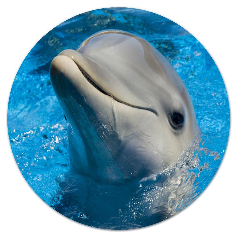 Коврик для мышки (круглый) Printio Дельфин 1