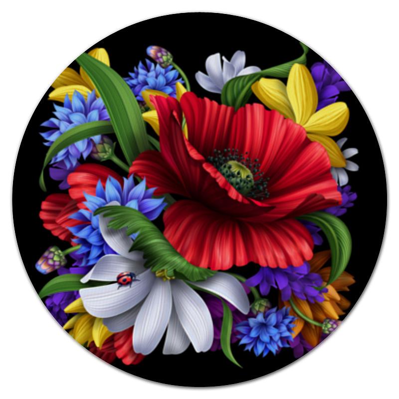 Коврик для мышки (круглый) Printio Композиция цветов для цветов