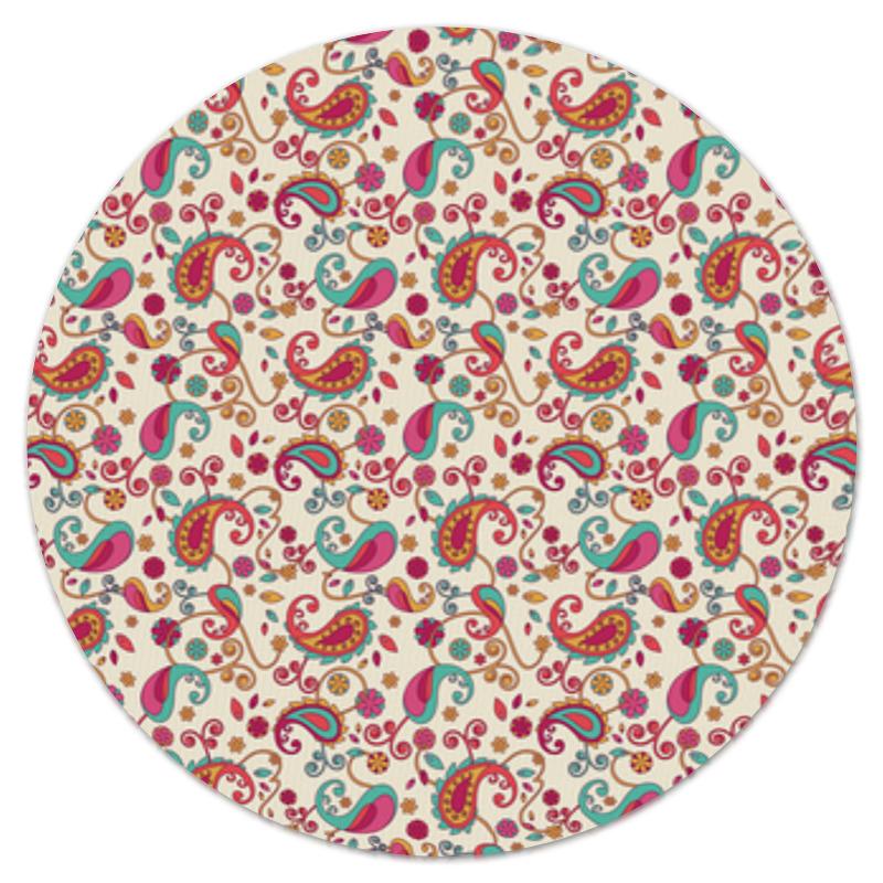 Коврик для мышки (круглый) Printio Пейсли (яркий)