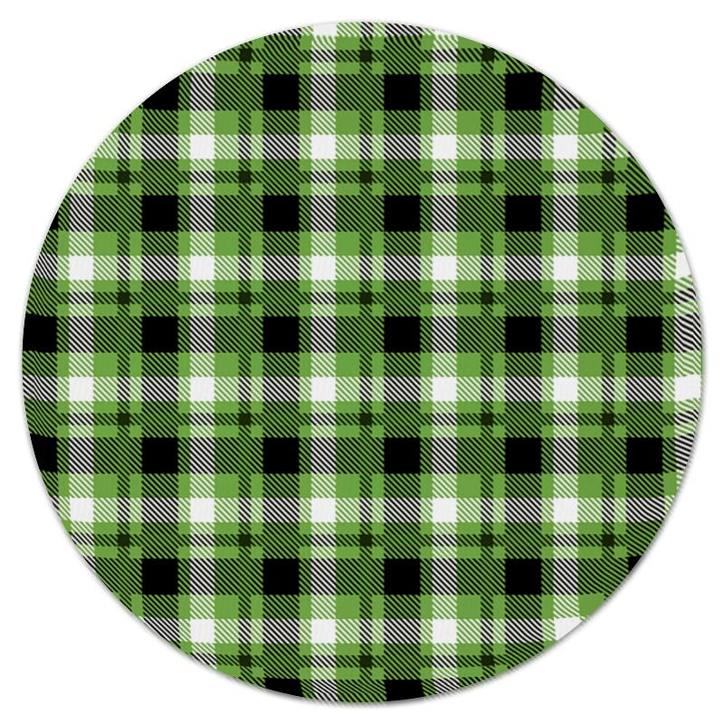 Коврик для мышки (круглый) Printio Зеленая клетка