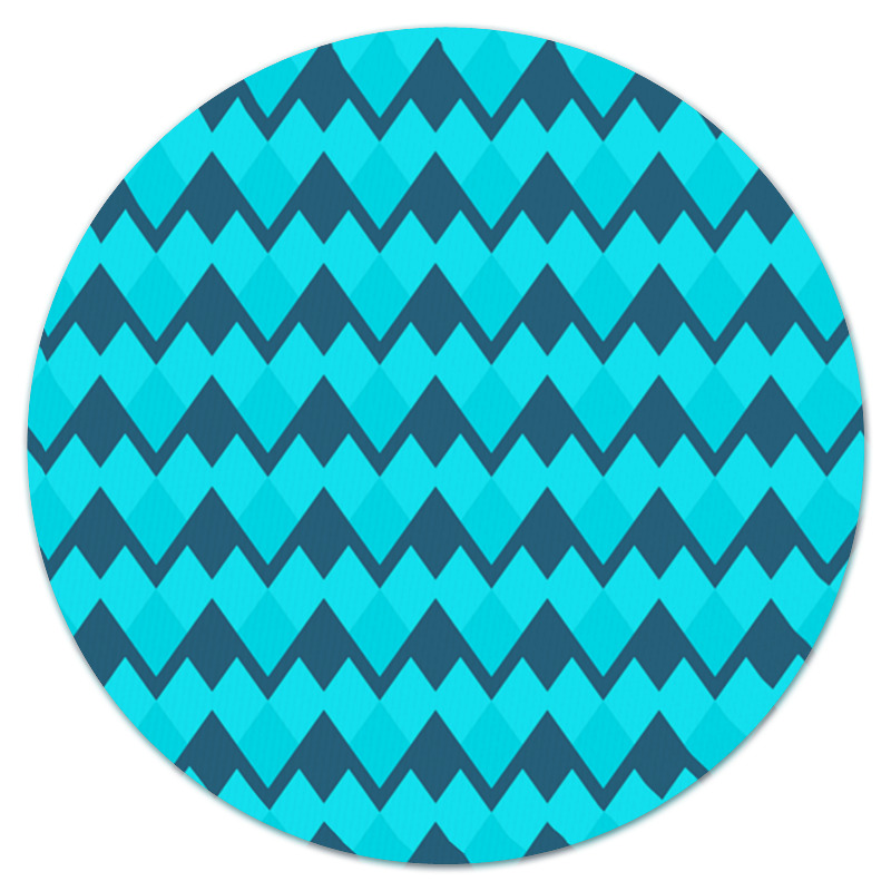 Коврик для мышки (круглый) Printio Голубой орнамент