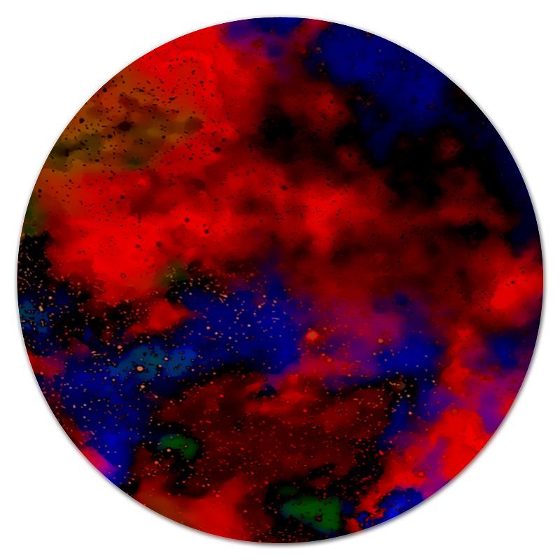 Коврик для мышки (круглый) Printio Красно-синий узор