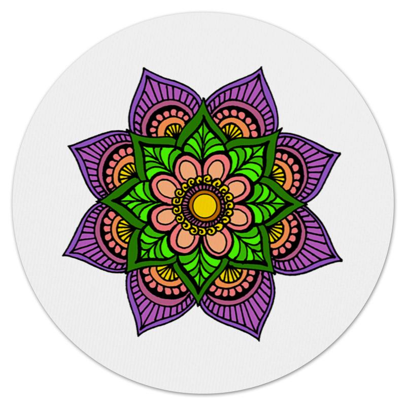 Коврик для мышки (круглый) Printio Яркие цветок мехенди набор вышиваем коврик цветок 25х30 см 43219