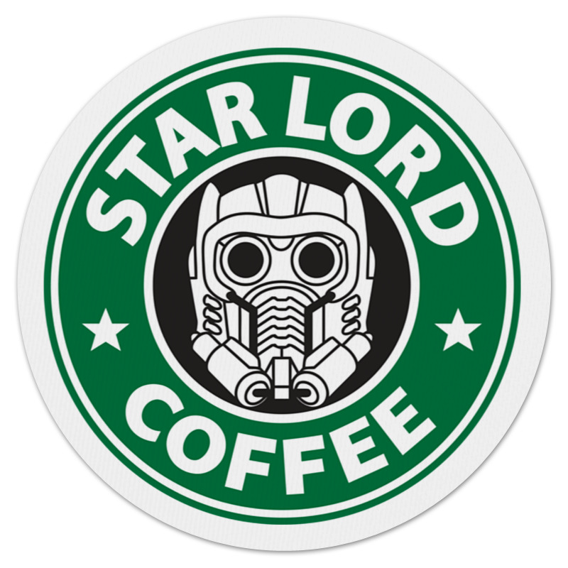 Коврик для мышки (круглый) Printio Star lord coffee майка print bar star lord