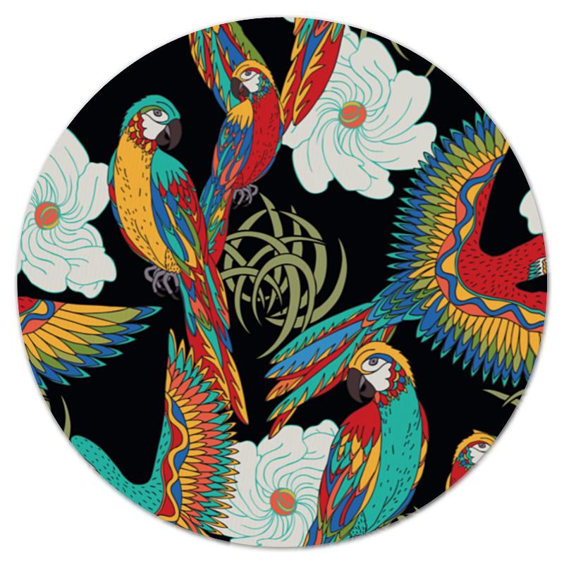 Коврик для мышки (круглый) Printio Попугаи попугаи розелла фото москва