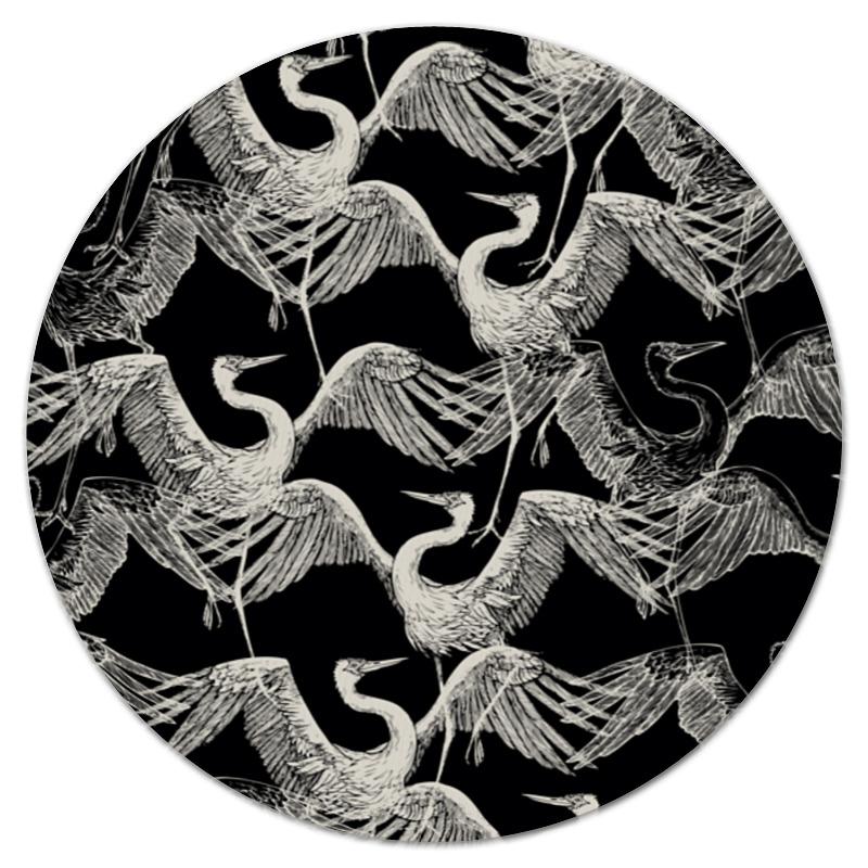 Коврик для мышки (круглый) Printio Журавль светильник садовый журавль 16х26 5х78см металл