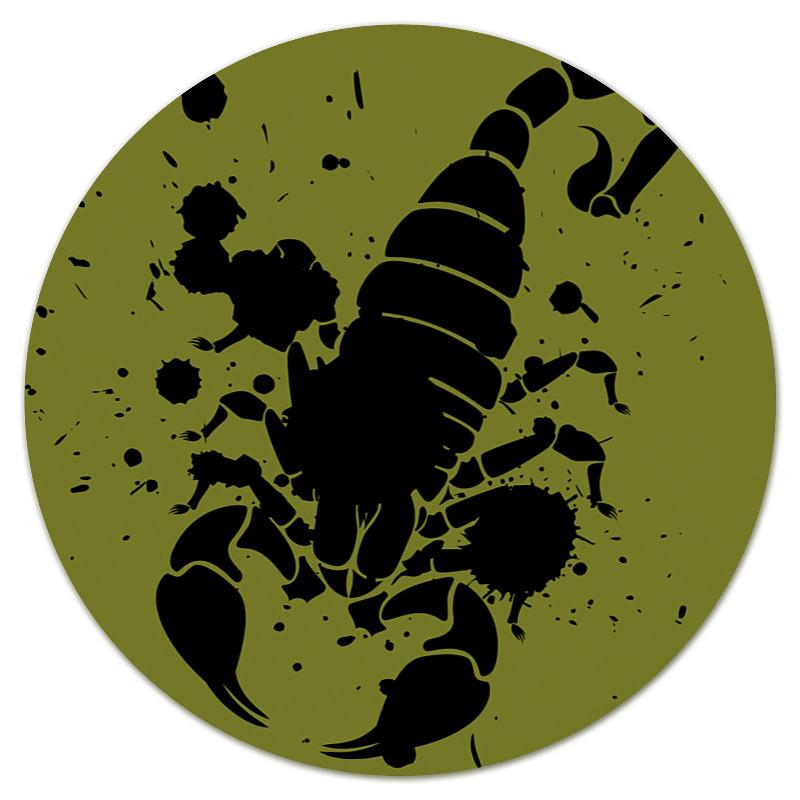 Коврик для мышки (круглый) Printio Скорпион (24.10-21.11) спусковой механизм для арбалетов скорпион interloper cr 013006