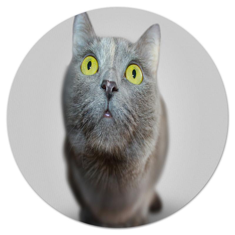 Коврик для мышки (круглый) Printio Кошка коврик для мышки printio серая кошка