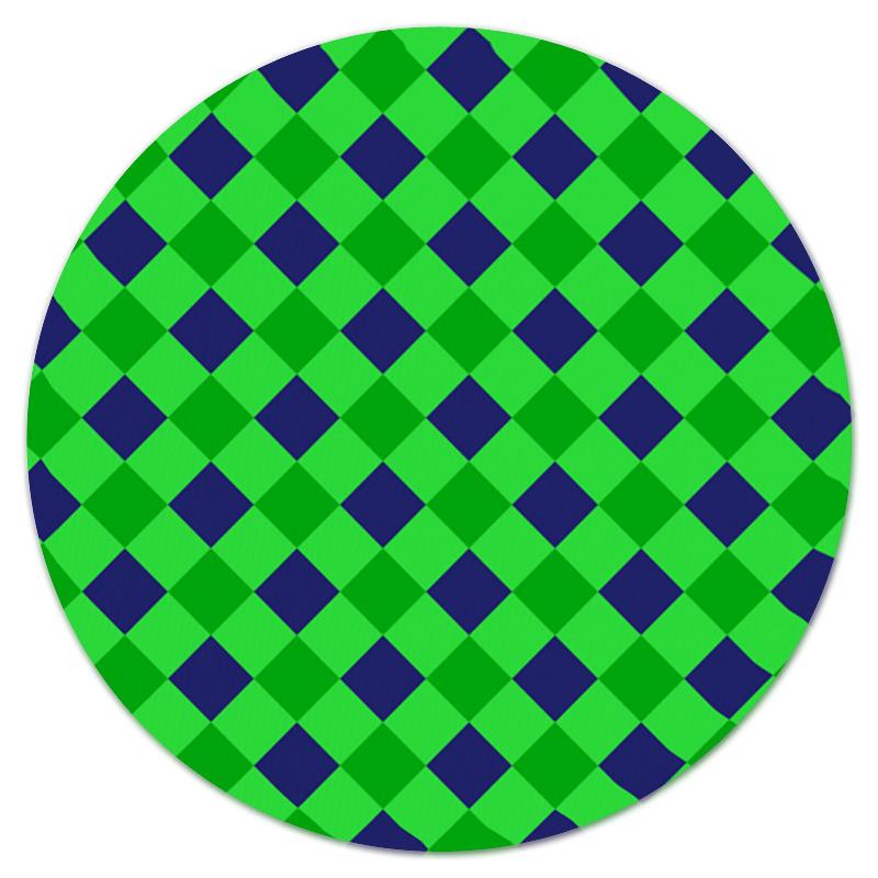 Коврик для мышки (круглый) Printio Сине-зеленые квадраты