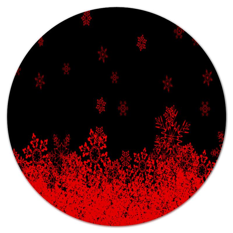 Коврик для мышки (круглый) Printio Красные снежинки костюм маленькой снежинки 32
