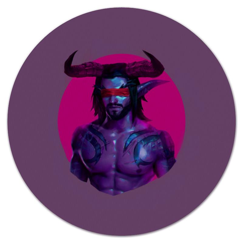 Коврик для мышки (круглый) Printio Warcraft: illidan коврик для мышки круглый printio герой вашей любимой игры