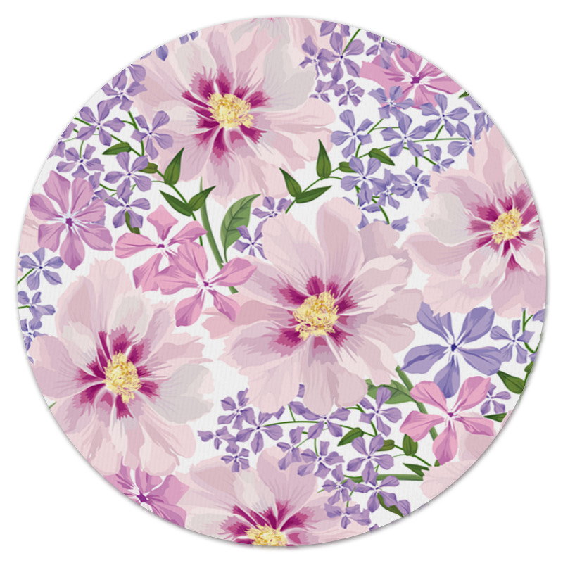 Коврик для мышки (круглый) Printio нежные цветы коврик для мышки круглый printio цветы фэнтези