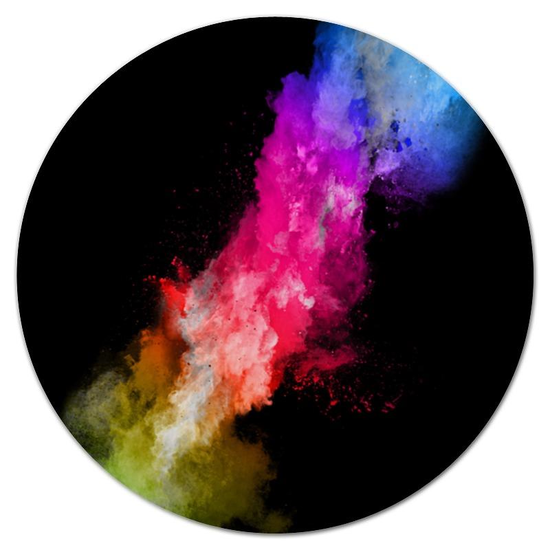 Коврик для мышки (круглый) Printio Краски
