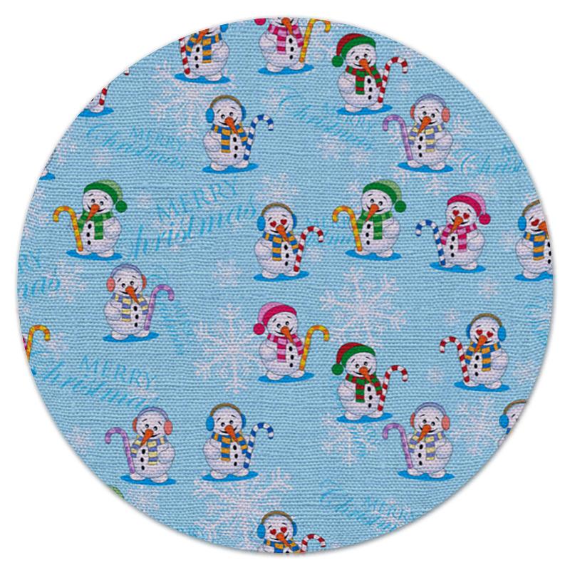 Коврик для мышки (круглый) Printio Снеговики кружка printio снеговики