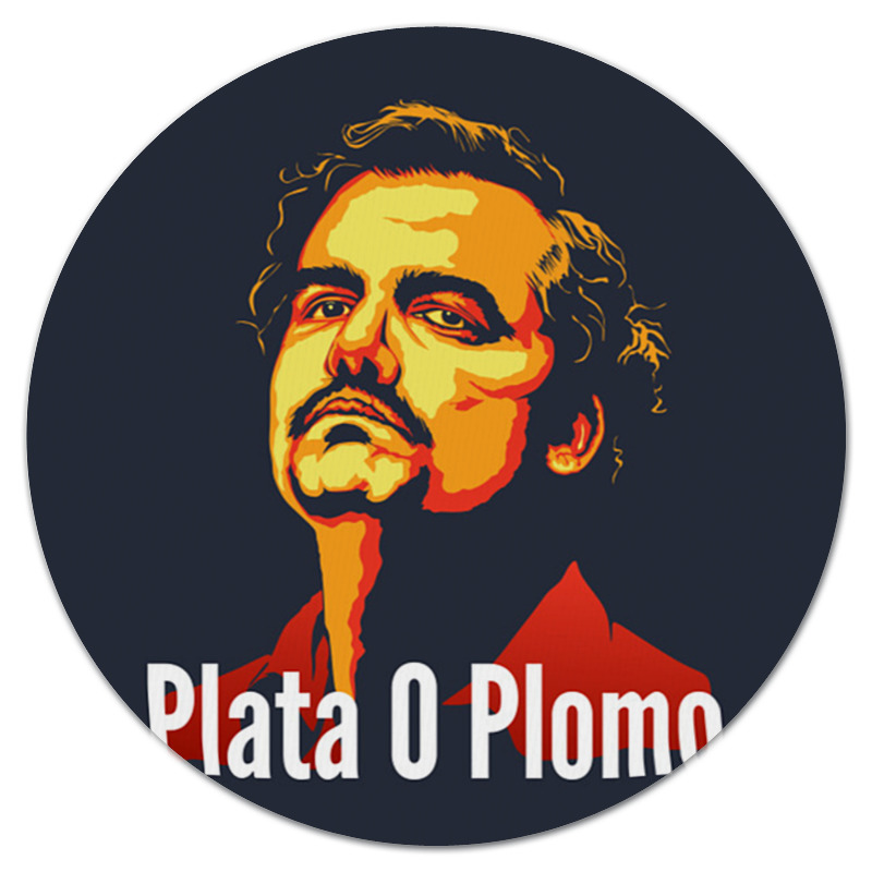 Коврик для мышки (круглый) Printio Пабло эскобар