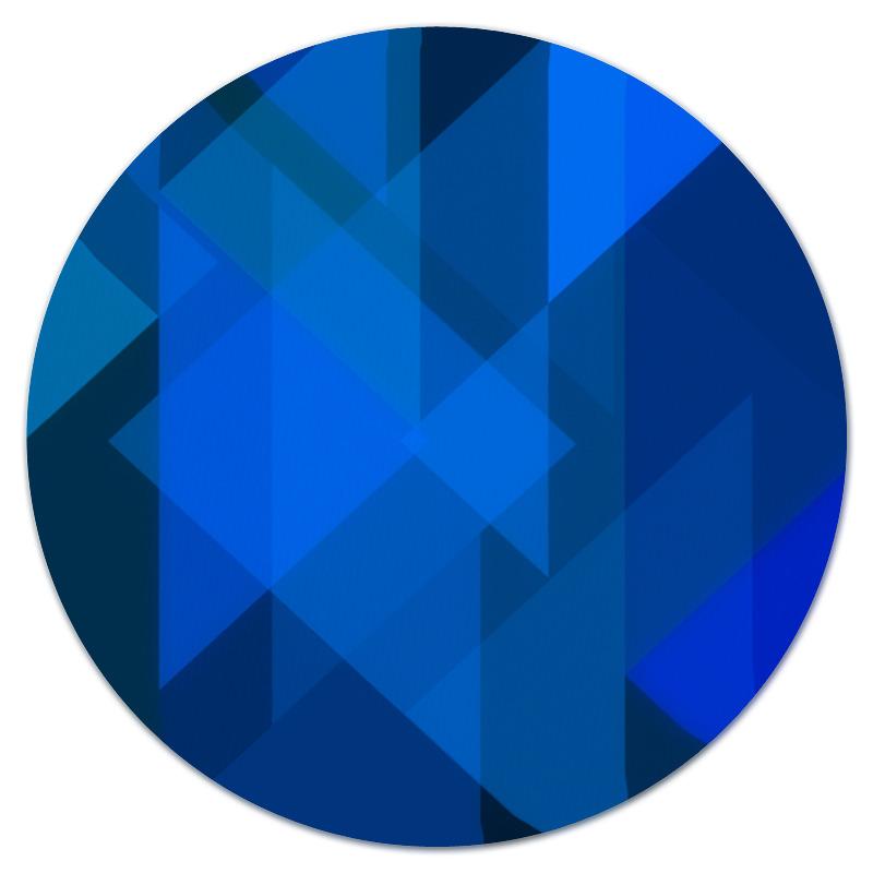 Коврик для мышки (круглый) Printio Синий абстрактный