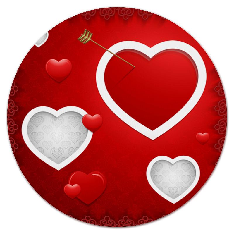 Коврик для мышки (круглый) Printio Сердце