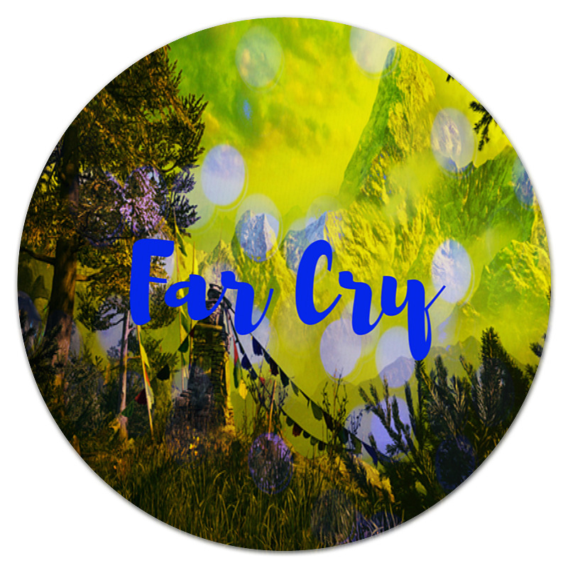 Коврик для мышки (круглый) Printio Far cry