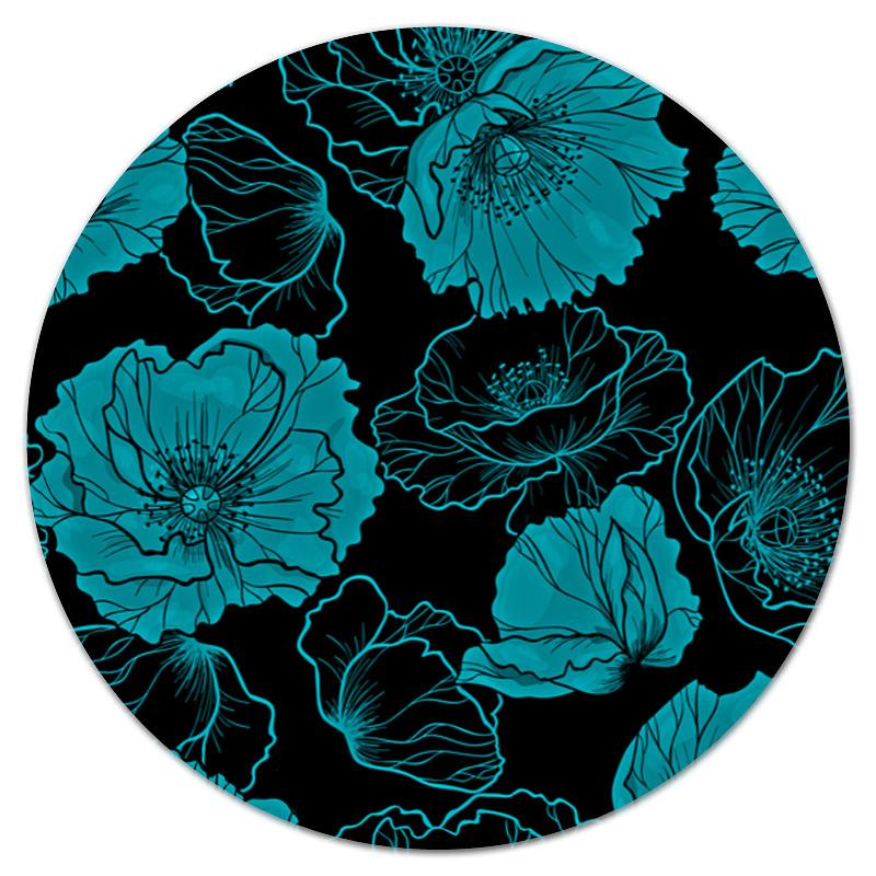 Коврик для мышки (круглый) Printio Цветочный