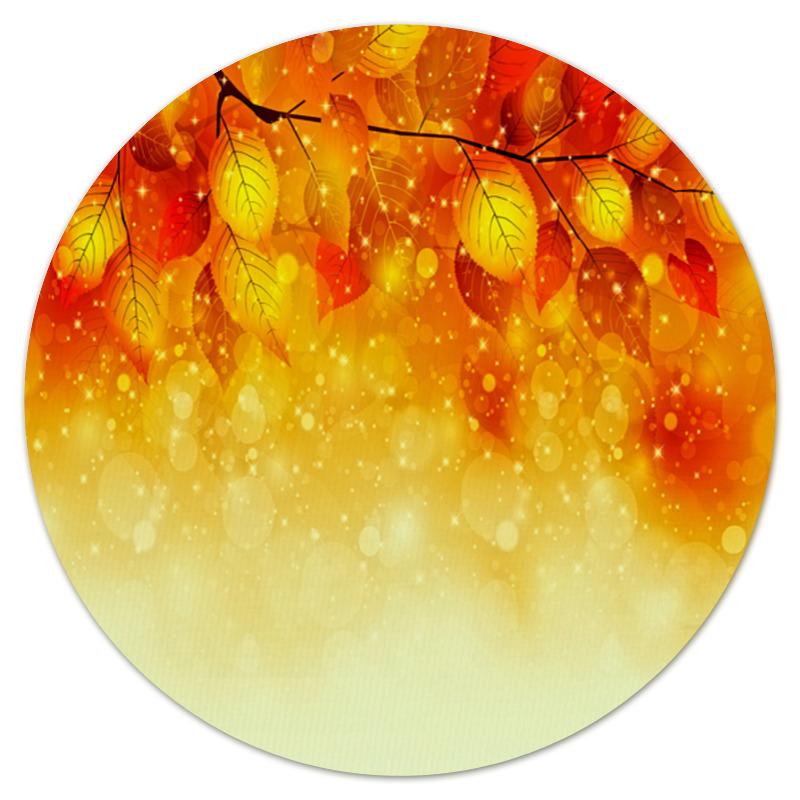 Коврик для мышки (круглый) Printio Осенние листья коврик для мышки круглый printio кленовые листья