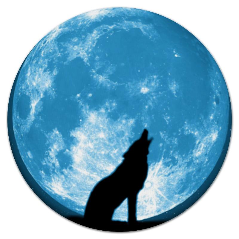 Коврик для мышки (круглый) Printio Волк и луна футболка стрэйч printio волк и луна