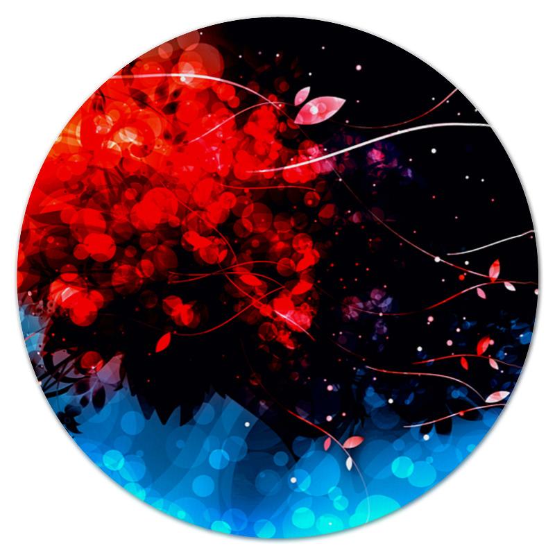 Коврик для мышки (круглый) Printio Сине-красные краски