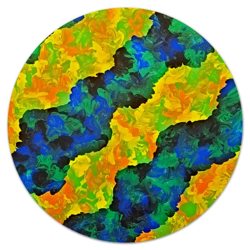 Printio Желто-синие волны коврик для мышки printio синие краски