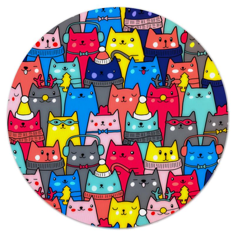 Коврик для мышки (круглый) Printio Нарядные котики