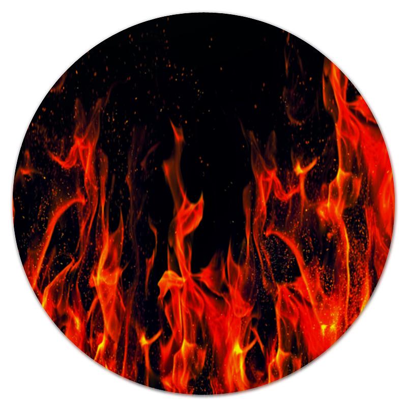 Коврик для мышки (круглый) Printio Пламя