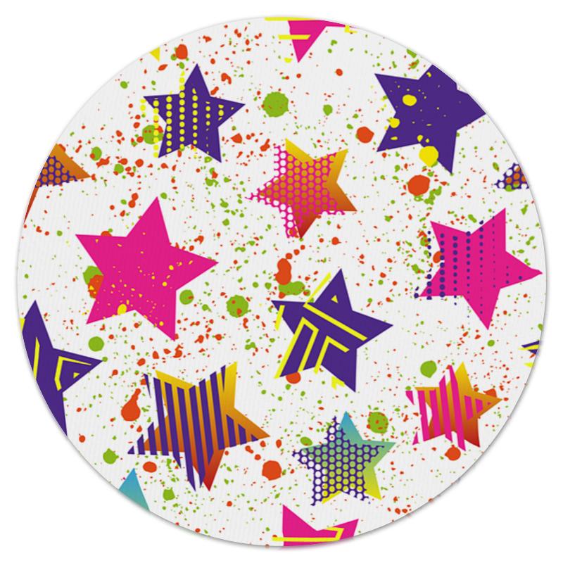 Коврик для мышки (круглый) Printio Звезды