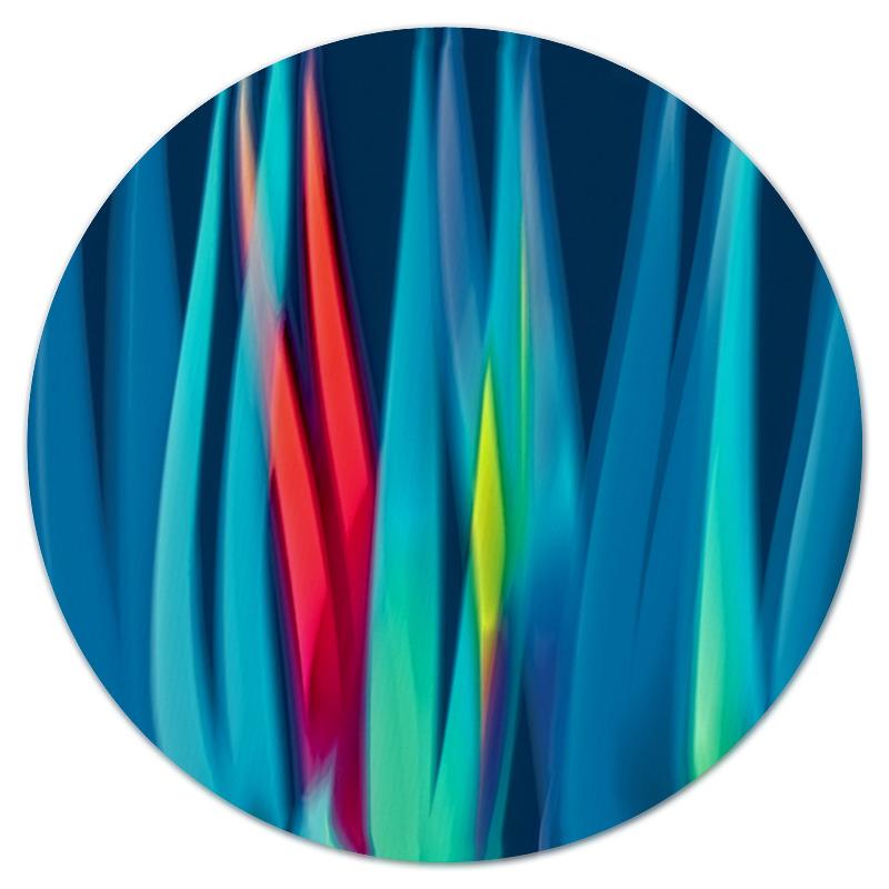 Коврик для мышки (круглый) Printio Синие линии коврик для мышки круглый printio козел