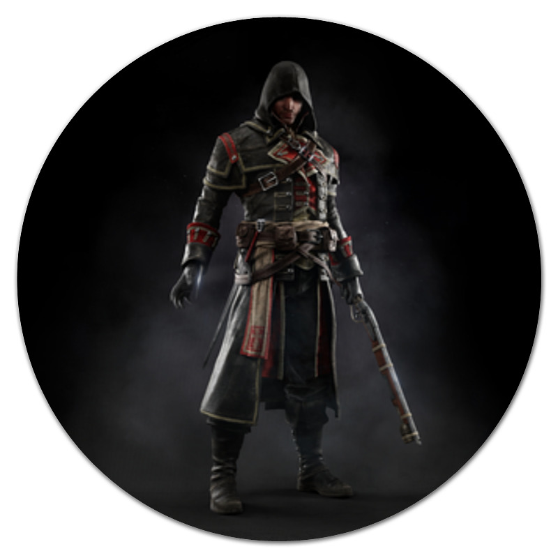 Коврик для мышки (круглый) Printio Assassins creed (rogue) grisham j rogue lawyer