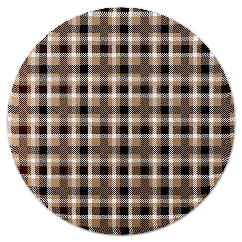 Коврик для мышки (круглый) Printio Коричневая клетка клин коричневая краска для синтетики