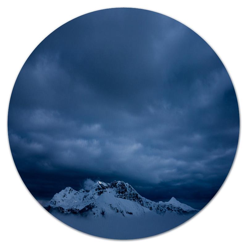 Коврик для мышки (круглый) Printio Горный пейзаж