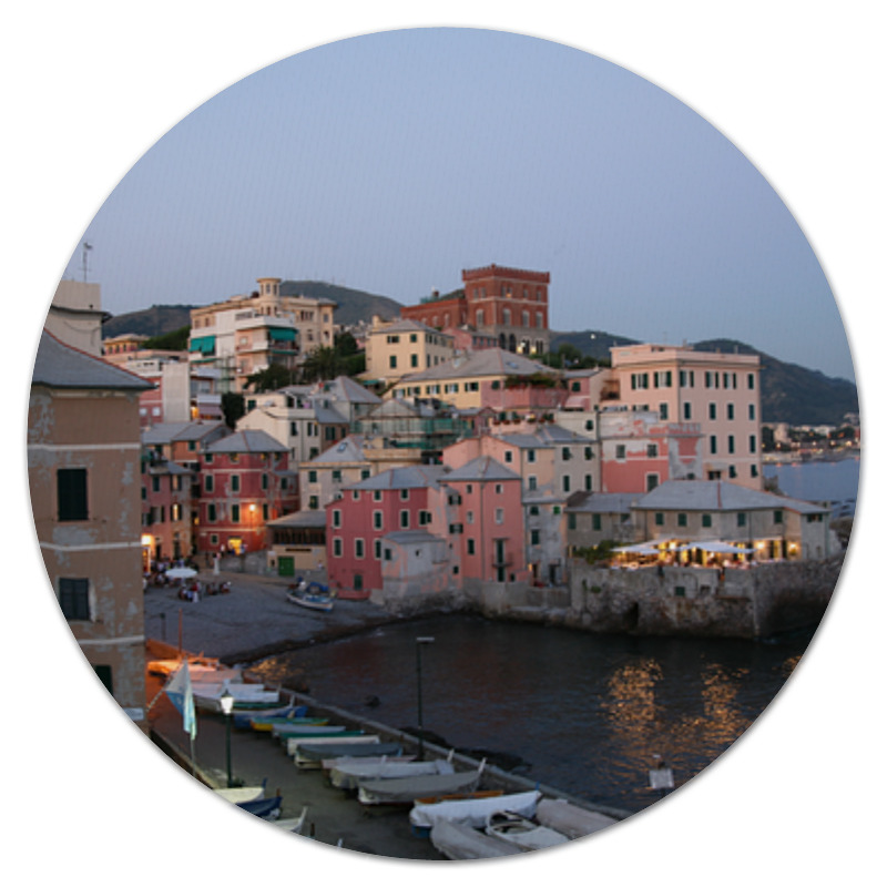 Коврик для мышки (круглый) Printio Лигурийское побережье