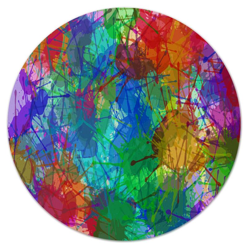Коврик для мышки (круглый) Printio Цветные пятна
