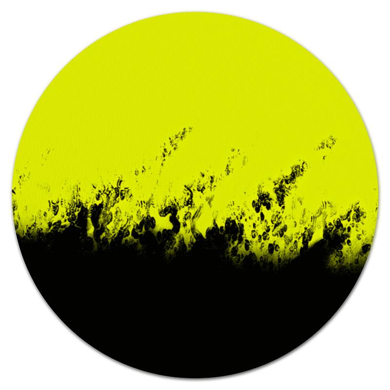 Коврик для мышки (круглый) Printio Желто-черные краски микроволновая печь tesler mm 1712