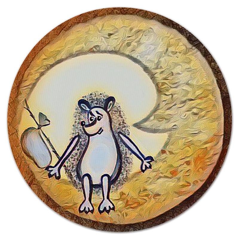 Коврик для мышки (круглый) Printio Ежик на луне коврик для мышки круглый printio лунное небо