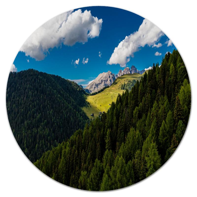 Коврик для мышки (круглый) Printio Лесной склон