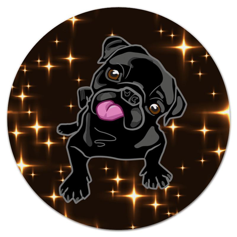 Коврик для мышки (круглый) Printio Черный пес коврик для мышки printio пес летчик